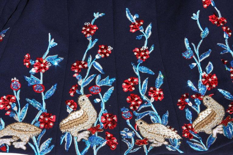 Oscar De La Renta F/W 2018 Runway Wool Cashmere Hand Embellished Jacket US 10 For Sale 3