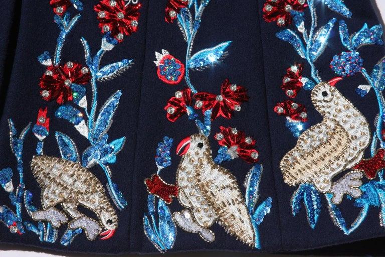 Oscar De La Renta F/W 2018 Runway Wool Cashmere Hand Embellished Jacket US 10 For Sale 4