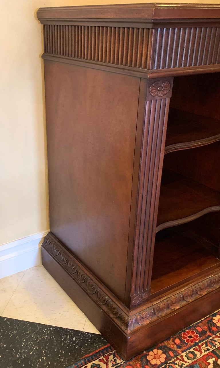 Oscar De La Renta for Century Furniture Mahogany Marble-Top Buffet Credenza For Sale 4