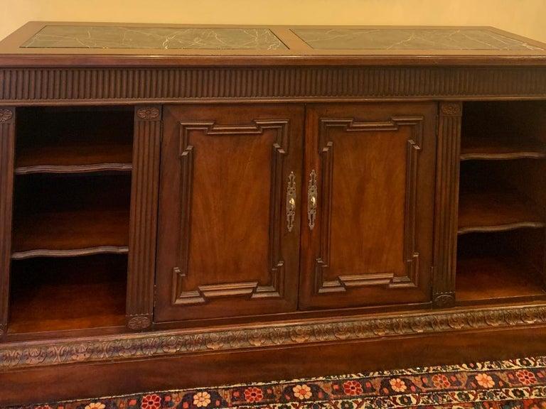 Other Oscar De La Renta for Century Furniture Mahogany Marble-Top Buffet Credenza For Sale