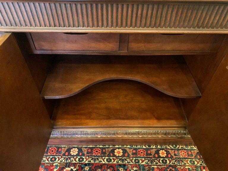 American Oscar De La Renta for Century Furniture Mahogany Marble-Top Buffet Credenza For Sale