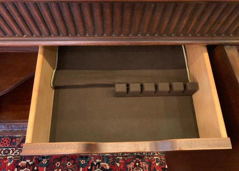 Contemporary Oscar De La Renta for Century Furniture Mahogany Marble-Top Buffet Credenza For Sale