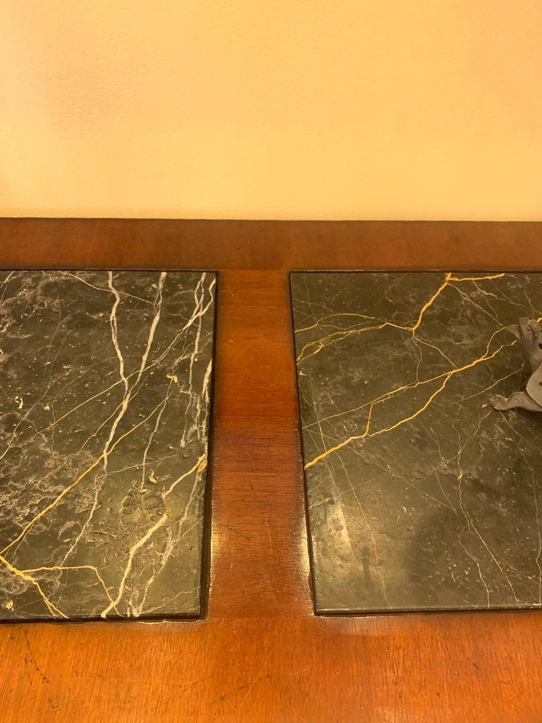 Oscar De La Renta for Century Furniture Mahogany Marble-Top Buffet Credenza For Sale 1