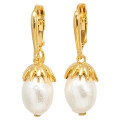Oscar de la Renta Runway Earrings Designer Chandelier Hooks