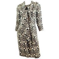 Oscar de la Renta Knit Dress with Scarf Fall 2008