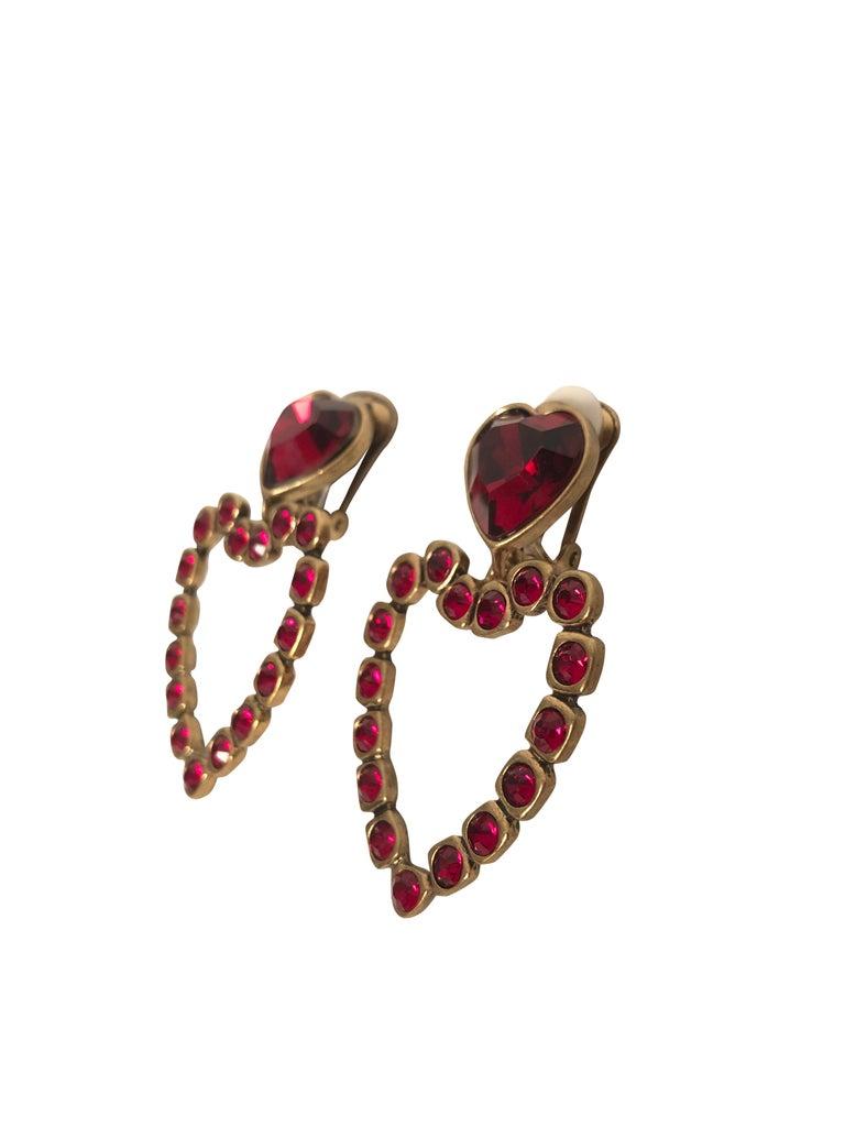 Oscar de la Renta Love Heart Earrings For Sale 1