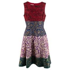 Oscar De La Renta Multicolour A-Line Embellished Dress - US size 10