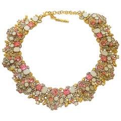Oscar De La Renta necklace set with beautiful rhinestones