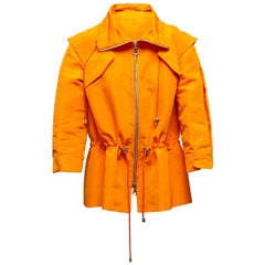 Oscar de la Renta Orange Silk Jacket