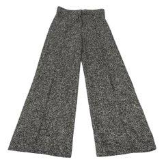 Oscar de la Renta Pant Alpaca Black Tweed 10  nwt