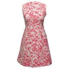 Oscar de la Renta Pink & White Resort 2017 Sample Dress