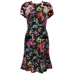 Oscar de la Renta Print Silk Dress