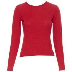 OSCAR DE LA RENTA R08 cashmere silk blend keyhole long sleeve sweater XS