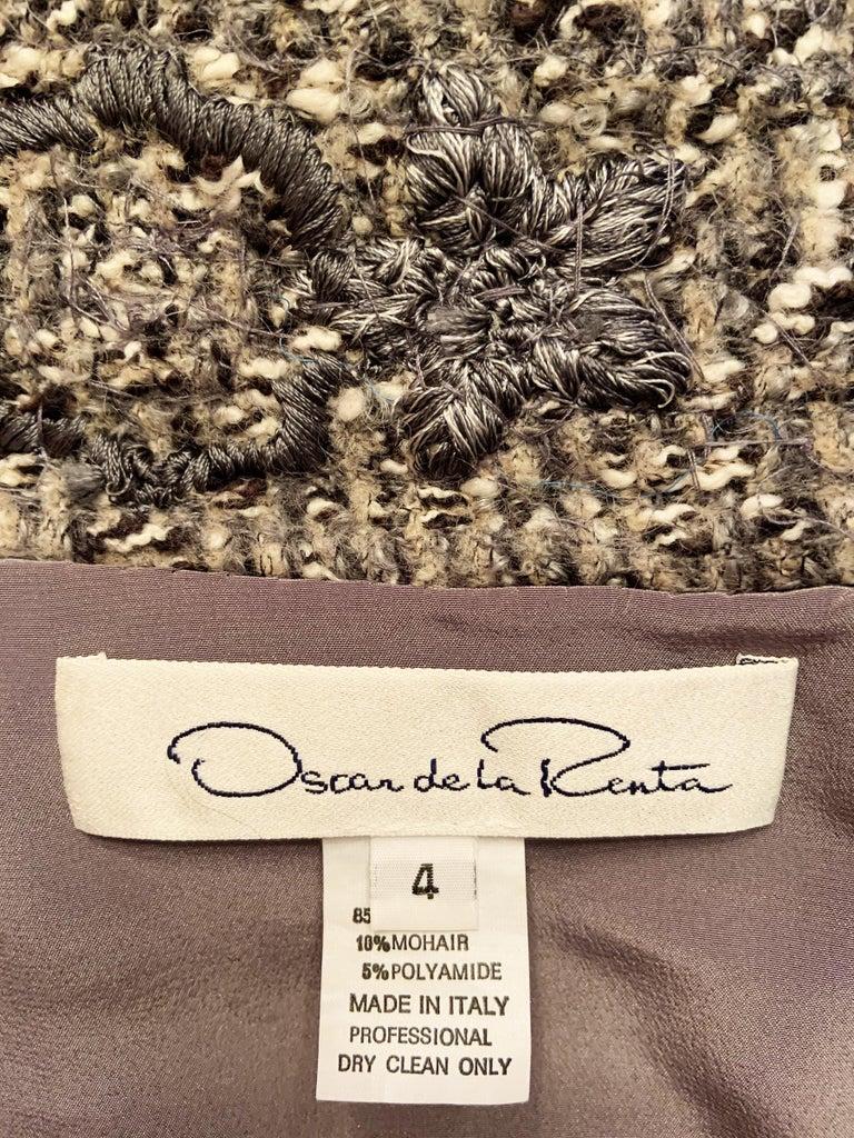 Oscar De La Renta Runway F/W 2004 Beaded Embroidered Fur Trim Coat Cardigan  For Sale 15