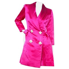 Oscar de la Renta Silk Coat