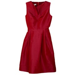 Oscar de la Renta Silk Sleeveless Dress sz 4