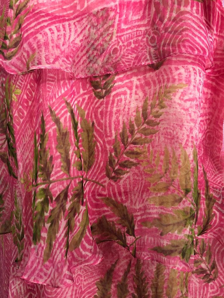OSCAR DE LA RENTA Sleeveless Pink Midi Dress w/ Belt Size 6 For Sale 3