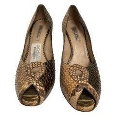 Oscar de la Renta Snakeskin Shoe