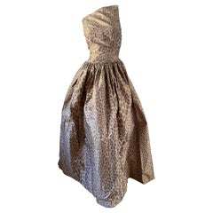 Oscar de la Renta Vintage 80's Leopard Print Silk Ball Gown