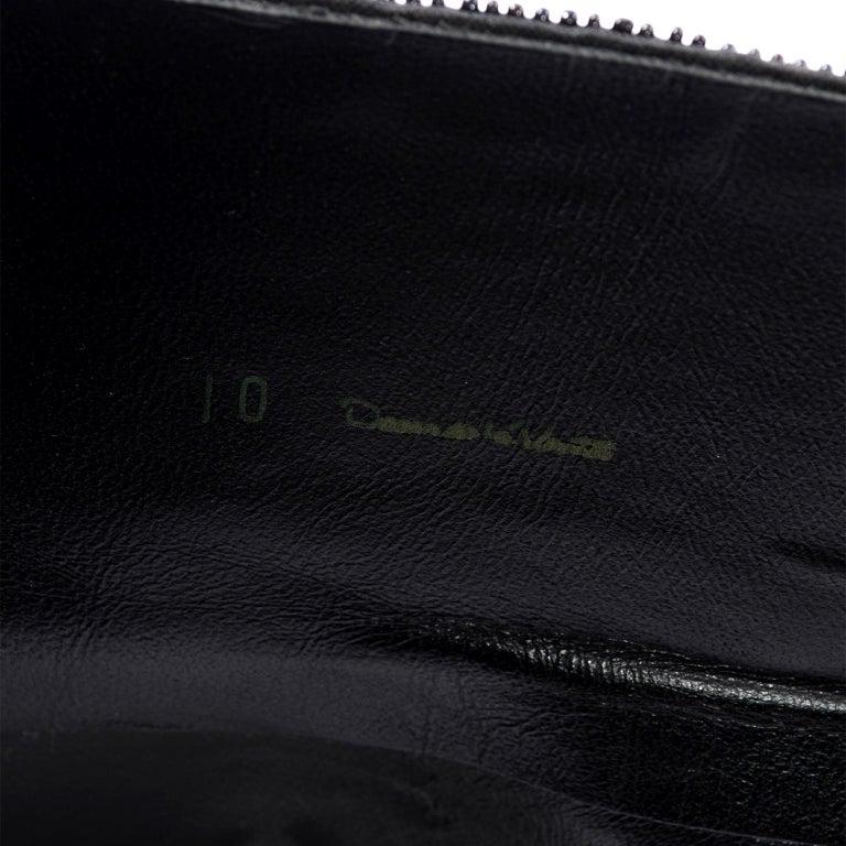 Oscar de la Renta Vintage Beaded Black Satin, Leather & Tulle Wide Corset Belt For Sale 2