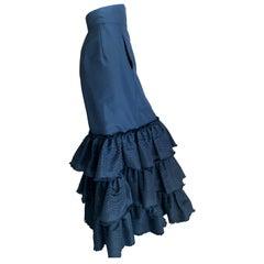 Oscar de la Renta Vintage Black Eyelet Mermaid Ball Skirt