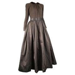 Oscar de La Renta Vintage Knit & Taffeta Ball Gown