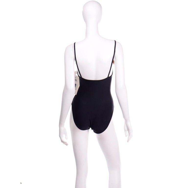 Women's Oscar de la Renta Vintage One Piece Swimsuit W Feathers New with Original Tags For Sale