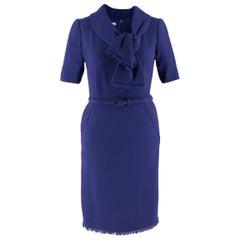 Oscar de La Renta Wool Raw Hem Dress - Size US 4