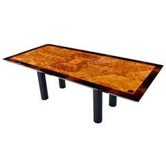 Oscar Dell Arredamento Italian Modern Burl Maple Dining Table by Miniforms