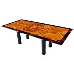 Oscar Dell Arredamento Italian Modern Burl Maple Dining Table by Miniforms