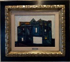 La maison. 1954. Original oil painting