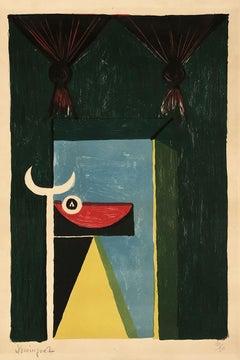 OSCAR DOMINGUEZ Tauromaquia (1950) Color print