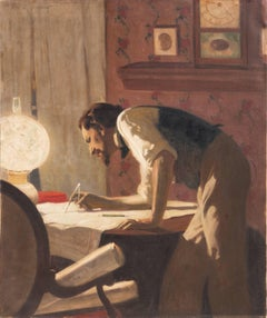 'The Architect in his Studio', Salmagundi Club, ASL, National Academy of Design