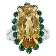 Oscar Heyman 11.98 Carat Imperial Topaz and Tsavorite Ring