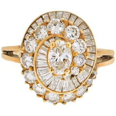 Oscar Heyman 18 Karat Yellow Gold 2 Carat Oval Cut Diamond Ring