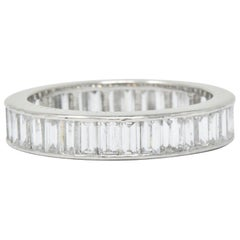 Oscar Heyman 1.80 Carat Diamond Platinum Eternity Band Ring