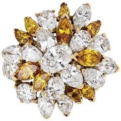 Oscar Heyman 5.46 Carat circa 1996 Cluster Diamond Ring