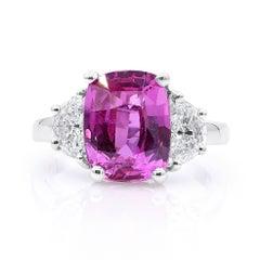 Oscar Heyman 6.02ct Pink Sapphire & Diamond Ring