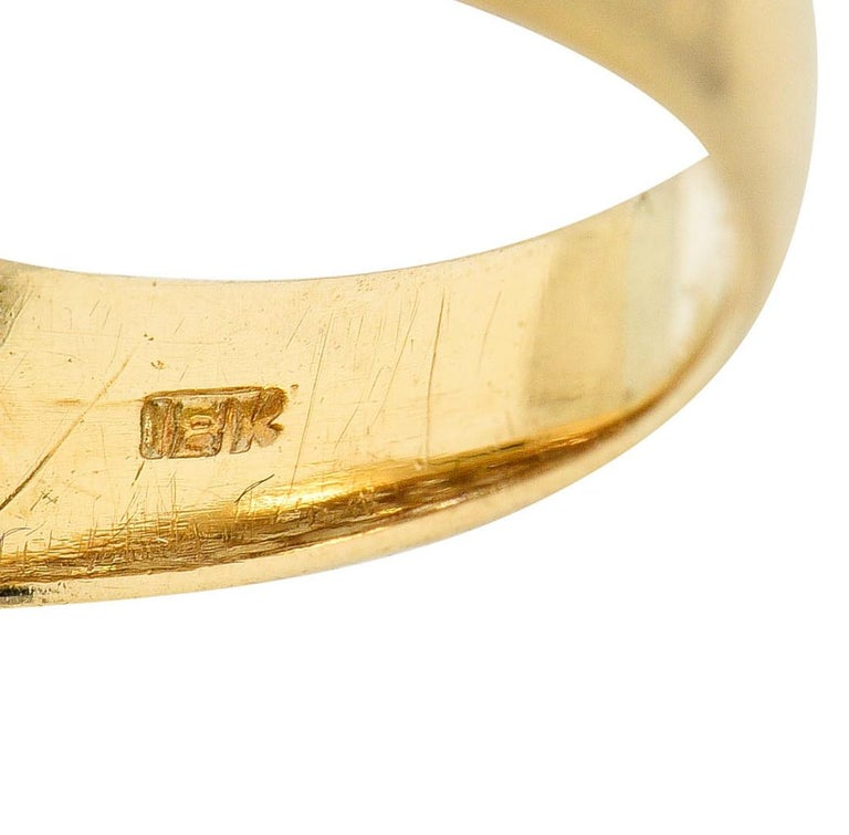 Oscar Heyman 7.50 Carats Pave Diamond 18 Karat Gold Bombe Band Ring For Sale 2