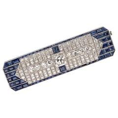 Oscar Heyman Art Deco Sapphire and Diamond Brooch