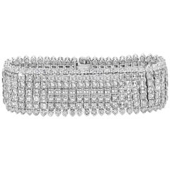 Oscar Heyman Asscher Cut Diamond Multi-Row Bracelet