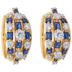 Oscar Heyman Blue Sapphire Earrings