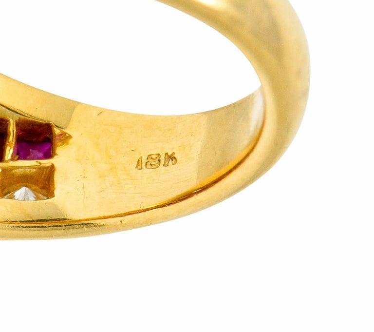 Oscar Heyman Bros. 2.50 Carat Ruby Diamond 18 Karat Gold Band Ring For Sale 4