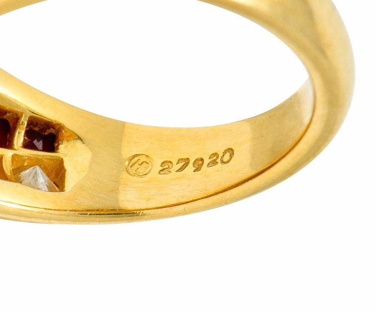 Oscar Heyman Bros. 2.50 Carat Ruby Diamond 18 Karat Gold Band Ring For Sale 3