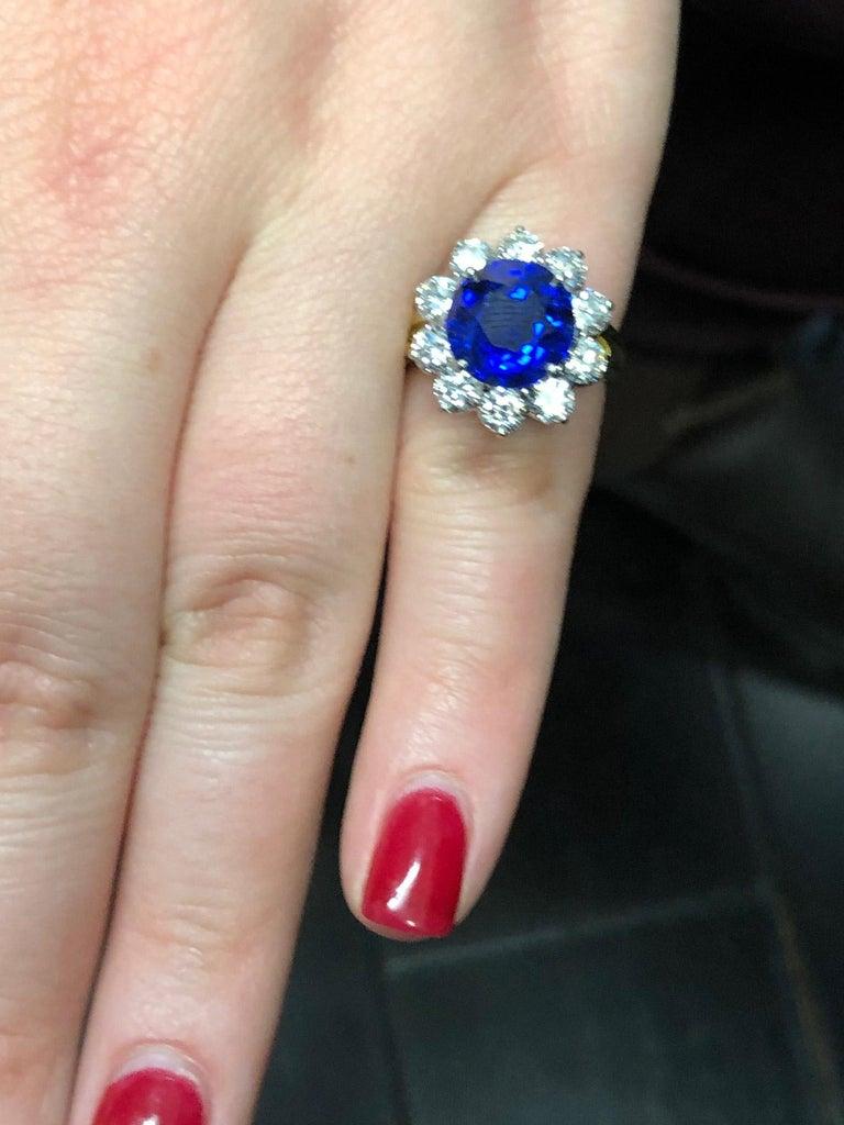 Oscar Heyman Burma Sapphire Diamond Platinum Ring For Sale 8