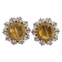 Oscar Heyman Cat's Eye Earrings