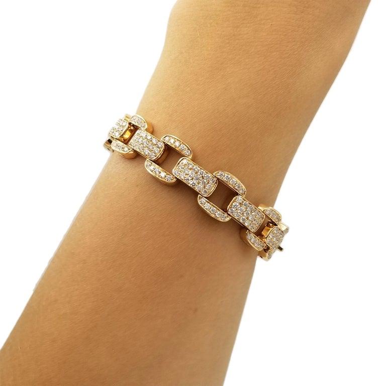 Artist Oscar Heyman Diamond Bracelet in 18k Rose Gold For Sale