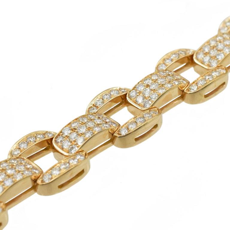 Women's Oscar Heyman Diamond Bracelet in 18k Rose Gold For Sale