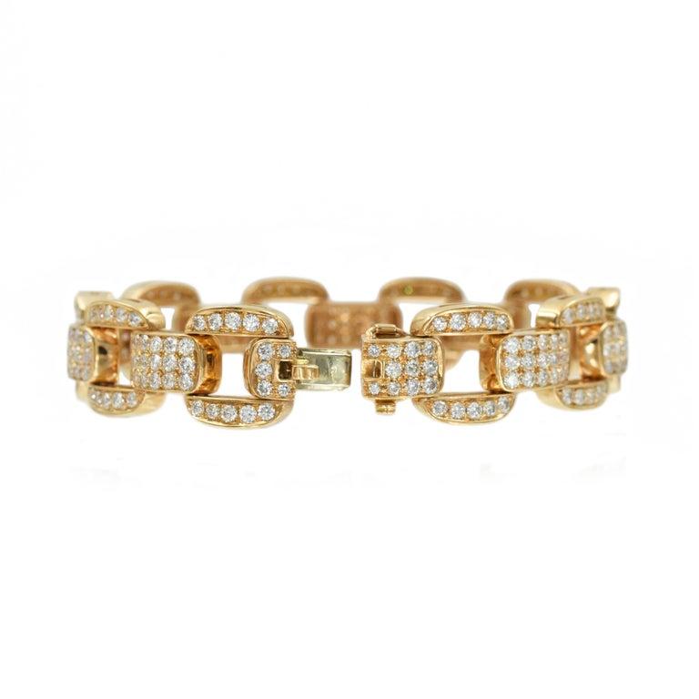 Oscar Heyman Diamond Bracelet in 18k Rose Gold For Sale 2
