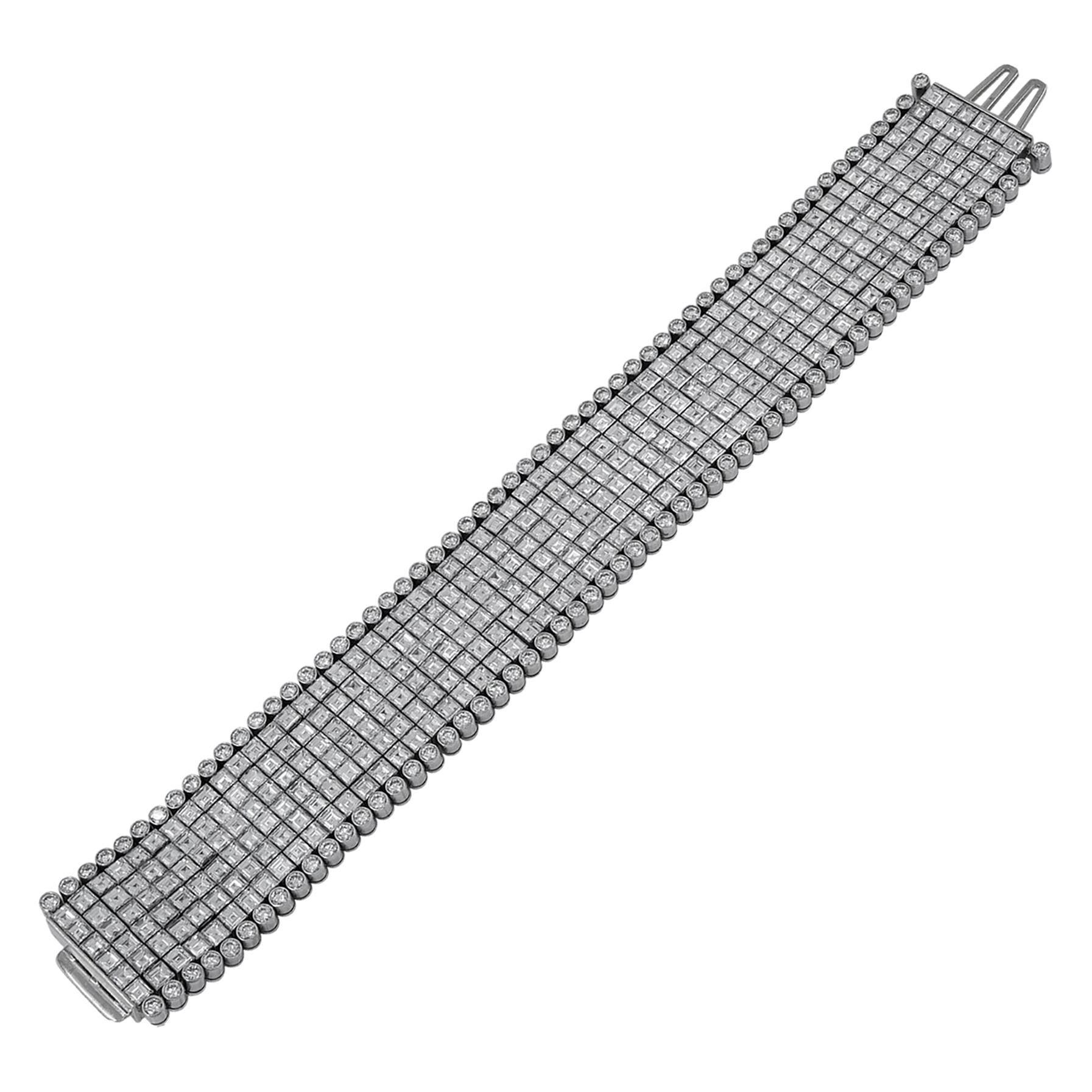 Oscar Heyman Diamond Platinum Bracelet